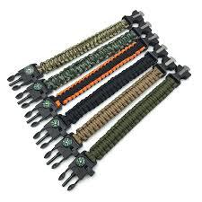 paracord survival whistle bracelet images Men 39 s paracord survival bracelet kits 550 parachute cord wristband jpg