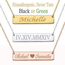 personalized name pendant gold name necklace ebay