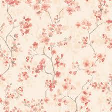 B Q Bedroom Wallpaper Karina Orange Floral Wallpaper Departments Diy At B U0026q