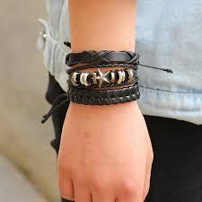 leather wrap bracelet men images 6pcs set leather bracelet men multilayer punk wrap bracelets jpg