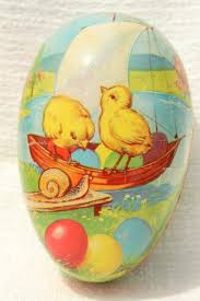 vintage paper mache easter eggs vintage easter egg candy container western germany paper papier