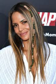 hair wraps halle berry just brought back 90s hippy hair wraps
