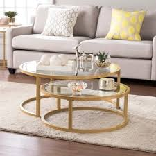 Glass And Gold Coffee Table Gold Coffee Console Sofa U0026 End Tables Shop The Best Deals For
