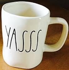 rae dunn mug amazon com rae dunn magenta yasss mug coffee cups mugs