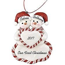 personalized glass ornament mr mrs wedding