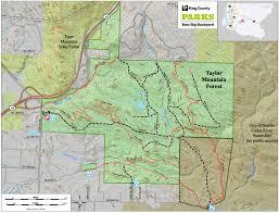Washington State Mountains Map by Taylor Mountain Trailmeister