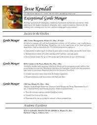 executive chef resume examples executive chef resume good