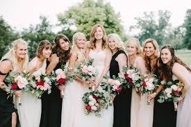 mix match bridesmaid dresses black and mix match bridesmaid dresses 5 trendy