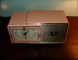 vintage 50s bulova model 120 clock radio oh glory vintage