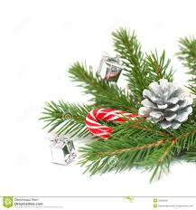 christmas tree branches and decorations royalty free stock images