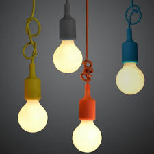 single light bulb with cord e27 colorful silicone l holder high quality pendant light 10
