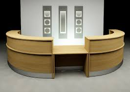 Double Reception Desk by Curved Desk Home Decor