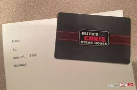 ruth s chris gift cards ruth chris steakhouse gift card gift card ideas
