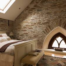 Awesome Bedroom Pics 15 Natural Bedrooms With Stacked Stone Wall Rilane