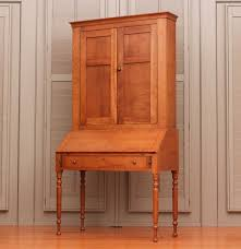 antique country sheraton style secretary bookcase in cherry ebth