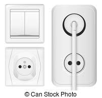 vector clipart of plug and light switch set electrical plug and