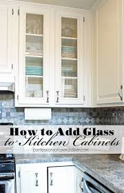 how to paint kitchen cupboard doors with a spray how to add glass to cabinet doors kitchen diy makeover