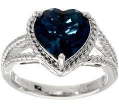 london blue topaz engagement ring heart cut london blue topaz sterling silver ring 3 50 ct page 1