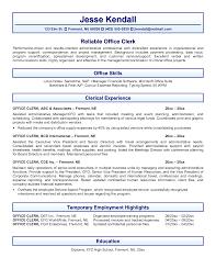 Stock Clerk Job Description For Resume by Office Office Clerk Resume