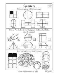 1st grade math worksheets finding 1 2 and 1 4 part 2 greatschools