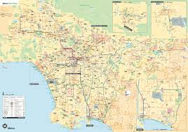 Traffic Map Los Angeles by Metro Releases 2014 Bike Map The Source