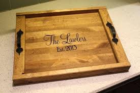personalized serving plate personalized serving tray custom wood serving trays debambu club