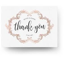 thank you cards gold 5x7 folding thank you card 3 dollar templates