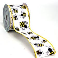 black and yellow ribbon bumble bee black yellow ribbon wired 2 5