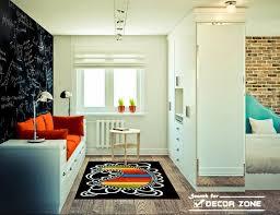 one bedroom studio apartment design with open interior