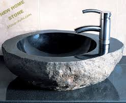 how to cut granite for sink granite rock stone sink bowls single faucet hole cut out nature