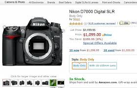 black friday nikon d5500 amazon nikon d7000 100 off and nikon d5100 200 off at amazon com