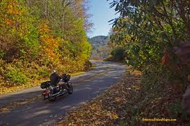 fall color smoky mountain motorcycle rider