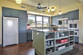 Blue Cabinets Kitchen by Photos Tim Brown Architecture Hgtv