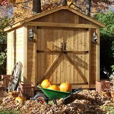 outdoor living today 8 x 12 spacemaker double door storage shed