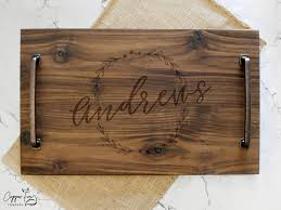 personalized serving tray personalized wooden serving tray custom serving tray gift copper