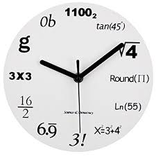 wall clock modern amazon com math clock timelike unique wall clock modern design