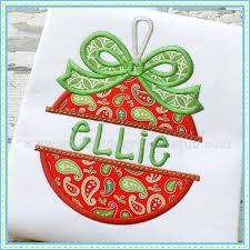 split bow ornament applique