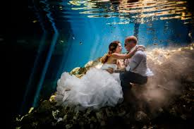 trash the dress stephanie and erich s riviera maya cenote trash the dress