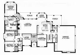 ranch floor plans modern ranch house floor plans burbank home plan house plans 9528