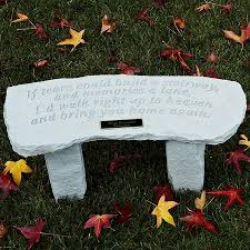 in memory of gifts personalised if tears garden bench