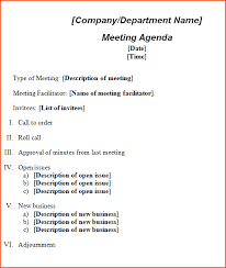 formal meeting agendas expin franklinfire co