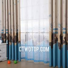 Blue And Brown Curtains Heavy Children Or Boys Room Brown And Blue Mickey Mouse Curtains