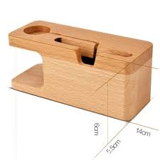 Schreibtisch Holz Handy Ladegerät Dock Mit Uhr Buche Halter Schreibtisch Holz