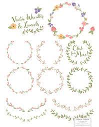 wildflowers floral wreath vector set by amanda ilkov