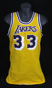 kareem abdul jabbar 1980 1985 los angeles lakers game worn home