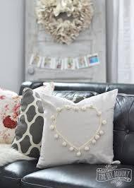 living room pillow black blush pink valentine s day home decor ideas diy pom pom