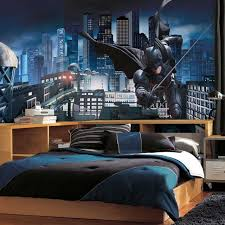 interior design amazing superhero wall decals for kids bedroom batman is doing an important duties to save a big city they are evident in the child s bedroom high quality stickers create a beautiful illusion to your