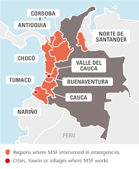 Colombia On A World Map by Colombia Msf Usa