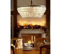 Candle Chandelier Pottery Barn Round Candle Chandelier Foter