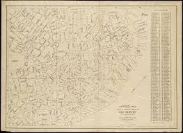 Old Boston Map by The North End